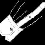 Schräg einfache Manschette