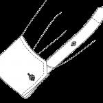Schräg Umschlagmanschette